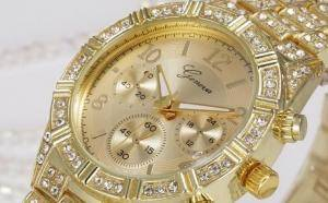 Ceas Dama Geneva Luxury Gold