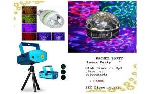 Laser disco + Glob Mp3 + Bec disco