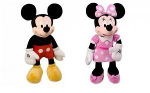 Plus Mickey Mouse si Minnie Mouse 50cm